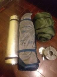 Camping Kit Barraca, Espiriteira, Isolante e Saco de dormir