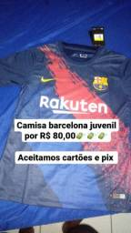 Camisa juvenil Barcelona por 80,00