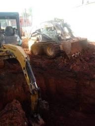 Demolição escavação mini carregadeira Bob cat