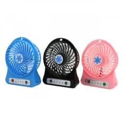 Mini Ventilador Recarregável Usb Portátil Com 3 Velocidades
