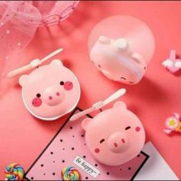 Mini espelho de porquinho