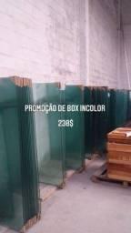 Box de banheiro incolor