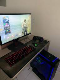 PC gamer completo (com monitor, mouse, teclado, pad e headset