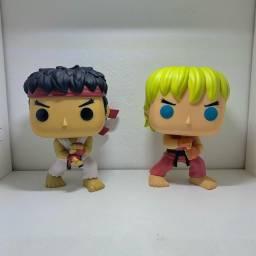 Kit Coleção Funko Pop Ryu e Ken - Street Fighter