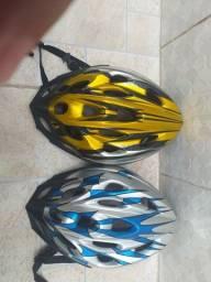 2 capacetes de ciclismo usados em ótimo estado de conservação
