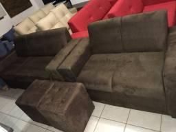 Combo sofá+2 puffs