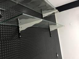 Prateleiras de vidro