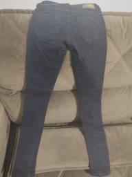 Calça sawary jeans feminina n34 preta