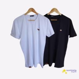 camisa basica 100% algodao p m g gg