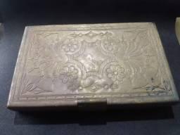 cigarreira bronze antiga
