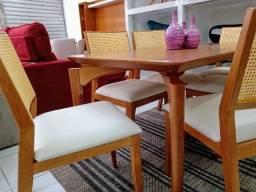 Cadeira Natural Em Madeira Encosto De Palha Sala De Jantar