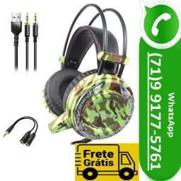 Headset Fone De Ouvido Com Microfone Camuflado Led Xtrad (NOVO)