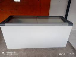 Freezer metalfrio tampa de vidro