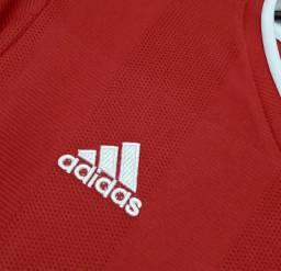 Camisa Bayern de Munique Home 2021 s/nº Adidas Masculina - Vermelho e Branco<br><br>