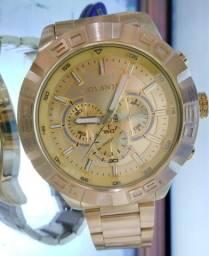 Relógio dourado atlantis J3481GP