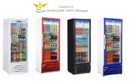 Geladeira expositora 410 litros porta de vidro,refrigerador expositor industrial