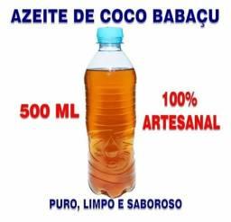 Azeite / Óleo Coco Babaçu 100% Artesanal - 500ml