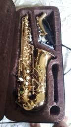 Saxofone alto em mibemol.semi novo