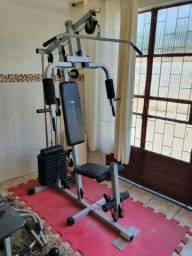 Estação De Musculação Aparelho Com 95kg Em Anilhas De Peso Marca Athletic Works