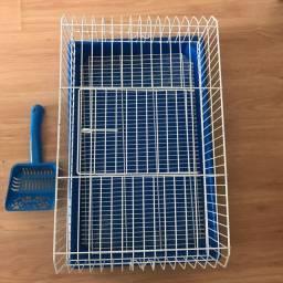 Gaiola para coelhos e roedores + Pá para limpeza