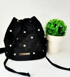 Bolsa saco preta /Spikes