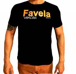 Camiseta camisa favela venceu roupa masculina