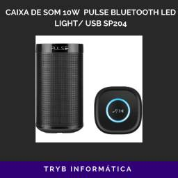 Caixa de som gamer multilaser led light / usb sp204