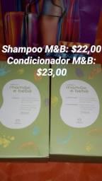 Título do anúncio: Shampoo e condicionador mamãe e bebê