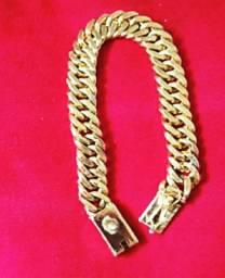 Grossona  pulseira em prata banho de ouro