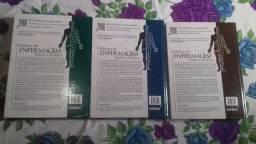 Livros didático de enfermagem prática e teoria 1 2 e 3