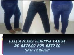 Calça Jeans Feminina Tam 54