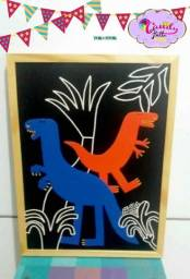Lote lindo dinossauros da tok stok para decorar o quarto do seu principe