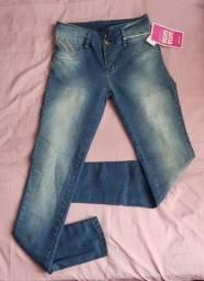 """Calça jeans sawary com """"bumbum"""" feminina"""