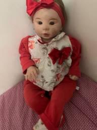 Bebê Reborn nova, pouco uso, com peso e cheirinho de nenê