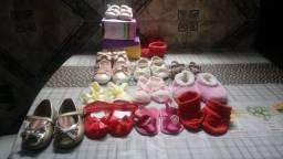 Sapatinhos Femininos Infantis de 0 a 10 Meses