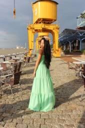 Vestido Longo - Verde Menta