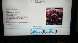 PlayStation 2 com 90 jogos no hd