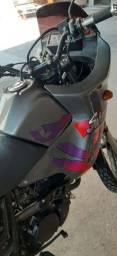 Vendo Honda NX Sahara 350, 91, cinza, revisada....