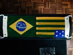 Bandeirinhas Brasil e Estado de Goiás.