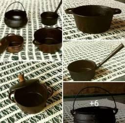 Jogo de panelas de ferro / prontas pra cozinhar