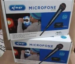 Microfone Sem Fio Ou Com Fio Alcance 30m Knup Kp-m0005<br><br><br>