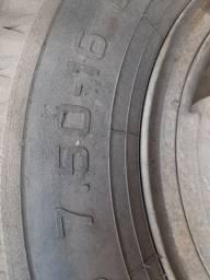 Roda danificada completa 7.50 Aro 16