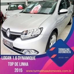 Renault logan dynamique 1.6 completo, 2015,Único dono, sem entrada!!!