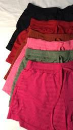 Shorts Malha Canelada