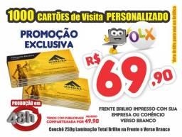 1000 Cartão de Visita em 24h Exclusivo *69,90 *Compartilhado Só 49,90 *Sede em São José