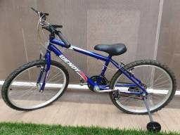Bicicleta aro 20 + Capacete - Praticamente não usada!