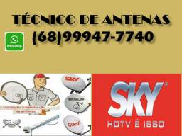 Antenas satélites técnico