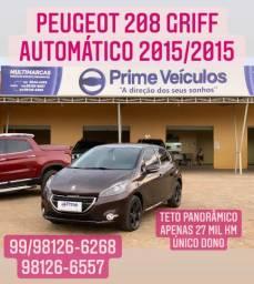 Peugeot 1.6 208 GRIFF automático com teto panorâmico 2015/2015