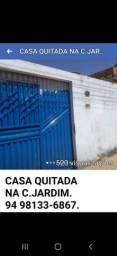 VENDA SE CASA QUITADA NA C. JARDIM