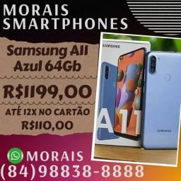 Smartphone Samsung A11 64Gb Azul (NOTA FISCAL E GARANTIA 12 MESES)